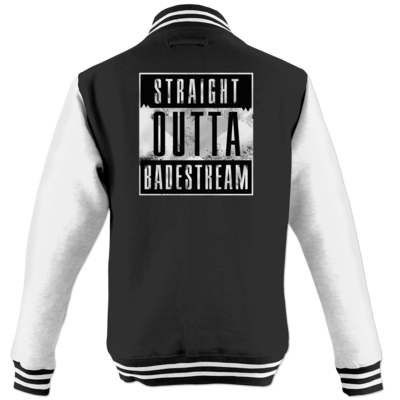 Motiv: College Jacke - Straight Outta Badestream