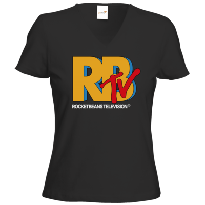 Motiv: T-Shirts Damen V-Neck FAIR WEAR - MTV Style Logo
