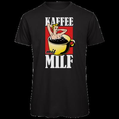 Motiv: Organic T-Shirt - Kaffee mit MILF