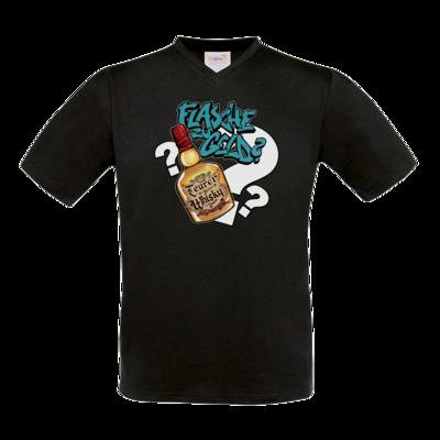 Motiv: T-Shirt V-Neck FAIR WEAR - Rob Boss - Flasche zu Geld