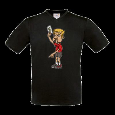 Motiv: T-Shirt V-Neck FAIR WEAR - Rob Boss - Schiedsrichter Fischkarte