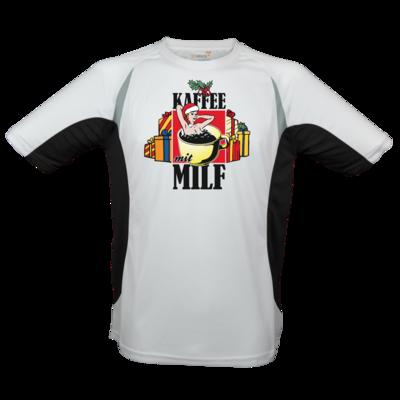 Motiv: Laufshirt Running T - X-Mas-Collection - Kaffee mit Milf