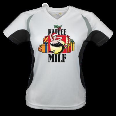 Motiv: Laufshirt Lady Running T - X-Mas-Collection - Kaffee mit Milf