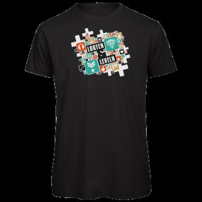 Motiv: Organic T-Shirt - Looten & Leveln - Kacheln Türkis
