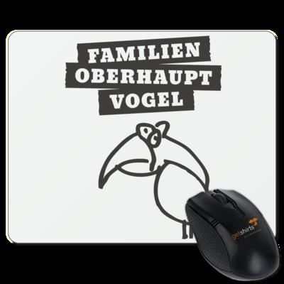 Motiv: Mousepad Textil - Familienoberhauptvogel