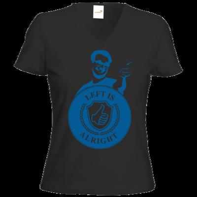 Motiv: T-Shirts Damen V-Neck FAIR WEAR - Left is alright