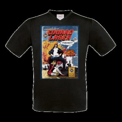 Motiv: T-Shirt V-Neck FAIR WEAR - Eduard Laser - Freiheit