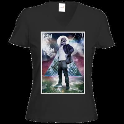 Motiv: T-Shirts Damen V-Neck FAIR WEAR - Eduard Laser - FIMW