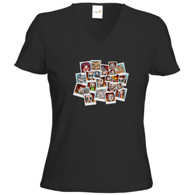 Motiv: T-Shirts Damen V-Neck FAIR WEAR - Inzaynia - Emotes