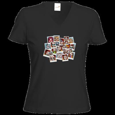 Motiv: T-Shirts Damen V-Neck FAIR WEAR - Inzaynia - Emotes