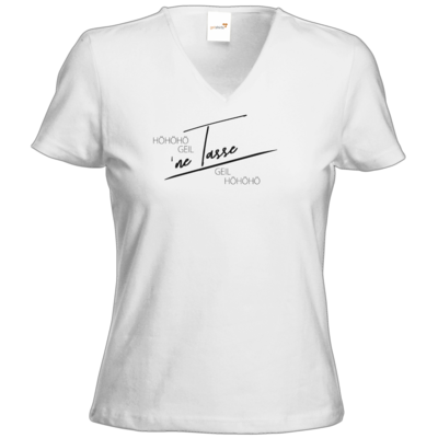 Motiv: T-Shirts Damen V-Neck FAIR WEAR - Inzaynia - Tasse