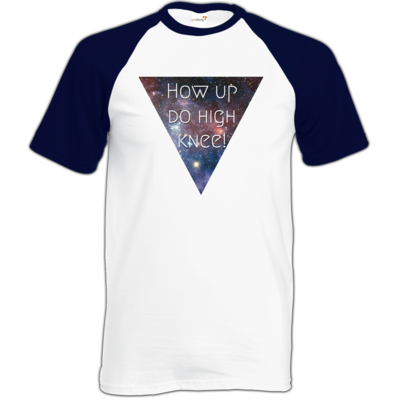 Motiv: Baseball-T FAIR WEAR - High Knee Galaxy
