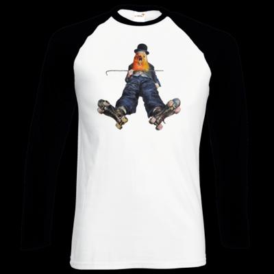 Motiv: Longsleeve Baseball T - Vogelmenschen - Chaplinfink