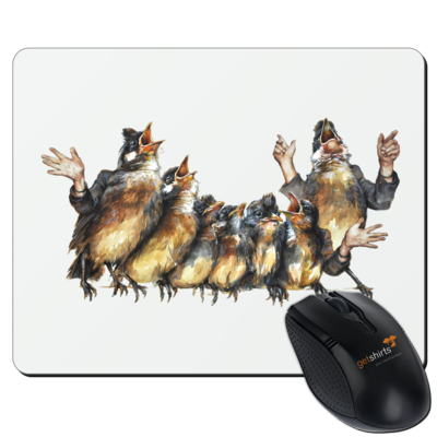 Motiv: Mousepad Textil - Vogelmenschen - Chor