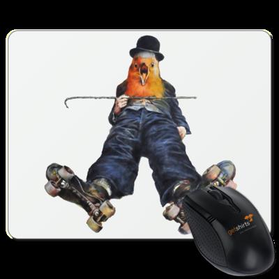 Motiv: Mousepad Textil - Vogelmenschen - Chaplinfink