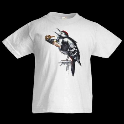 Motiv: Kids T-Shirt Premium FAIR WEAR - Vogelmenschen - Schluckspecht