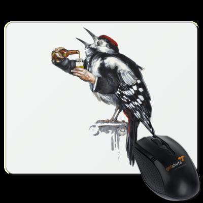 Motiv: Mousepad Textil - Vogelmenschen - Schluckspecht