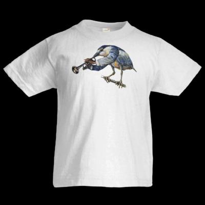 Motiv: Kids T-Shirt Premium FAIR WEAR - Vogelmenschen - Satchmo-Reiher