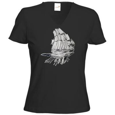 Motiv: T-Shirt Damen V-Neck Classic - Sea Shepherd Support - Buchwal