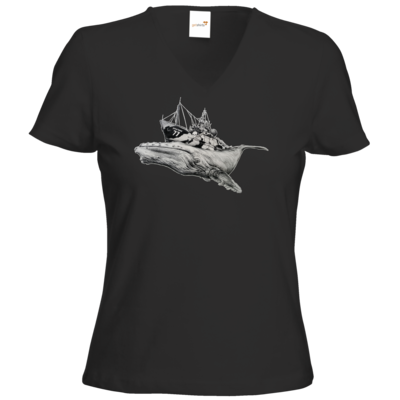 Motiv: T-Shirt Damen V-Neck Classic - Sea Shepherd Support - Steve Irwin