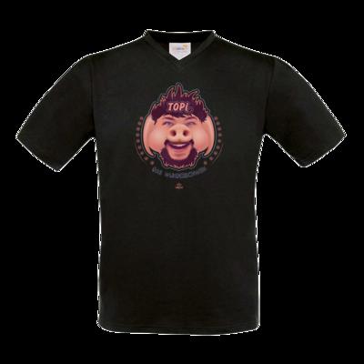 Motiv: T-Shirt V-Neck FAIR WEAR - TOPI Wunderschwein