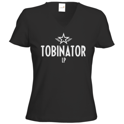 Motiv: T-Shirts Damen V-Neck FAIR WEAR - Tobinator