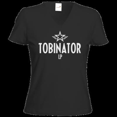 Motiv: T-Shirts Damen V-Neck FAIR WEAR - Tobinator