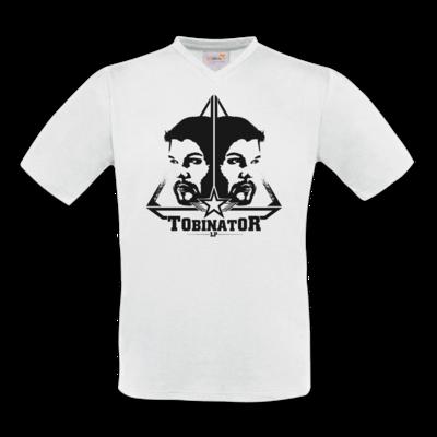 Motiv: T-Shirt V-Neck FAIR WEAR - StarBadge dark