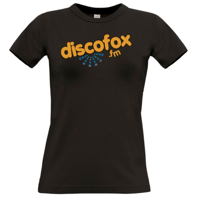 Motiv: T-Shirt Damen Premium FAIR WEAR - Discofox FM - Logo XL