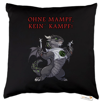 Motiv: Kissen Baumwolle - Ulisses - Ohne Mampf kein Kampf