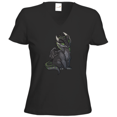 Motiv: T-Shirts Damen V-Neck FAIR WEAR - Ulisses - Chibi