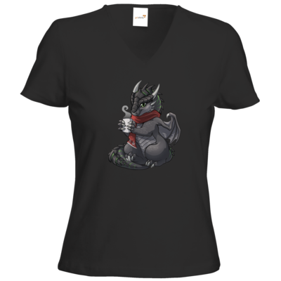 Motiv: T-Shirts Damen V-Neck FAIR WEAR - Ulisses - Chibi - Weihnachtsmotiv 1