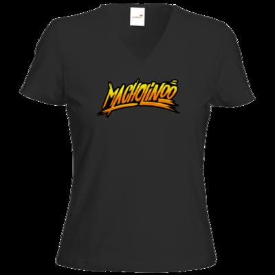 Motiv: T-Shirt Damen V-Neck Classic - Macho - Tag