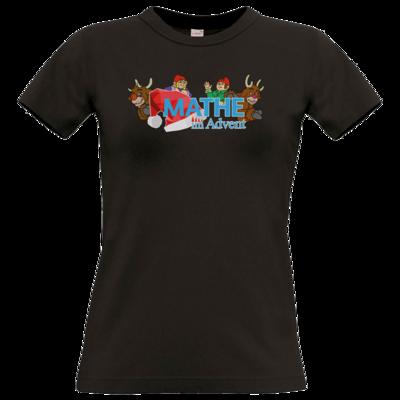 Motiv: T-Shirt Damen Premium FAIR WEAR - Logo mit Wichteln und Rentieren
