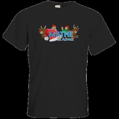 Motiv: T-Shirt Premium FAIR WEAR - Logo mit Wichteln und Rentieren