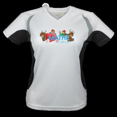 Motiv: Laufshirt Lady Running T - Logo mit Wichteln und Rentieren
