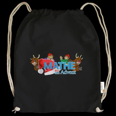 Motiv: Cotton Gymsac - Logo mit Wichteln und Rentieren