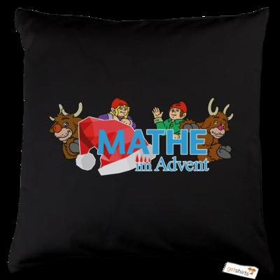 Motiv: Kissen Baumwolle - Logo mit Wichteln und Rentieren