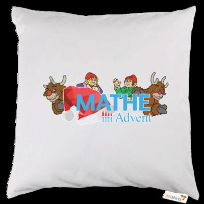 Motiv: Kissen - Logo mit Wichteln und Rentieren