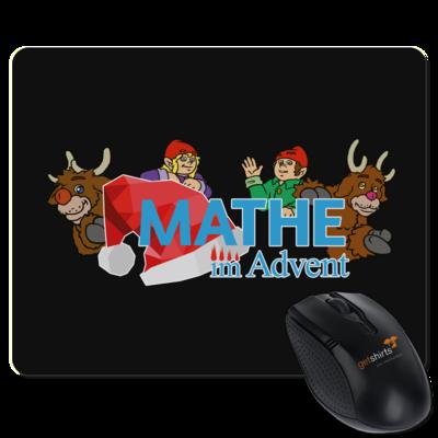 Motiv: Mousepad Textil - Logo mit Wichteln und Rentieren