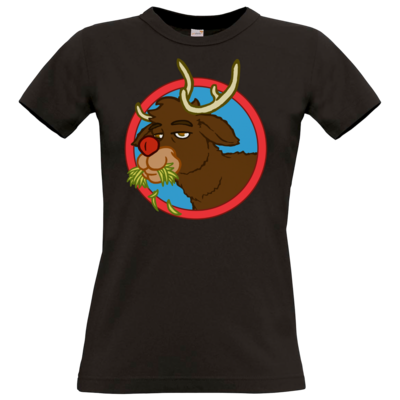 Motiv: T-Shirt Damen Premium FAIR WEAR - Rudolph