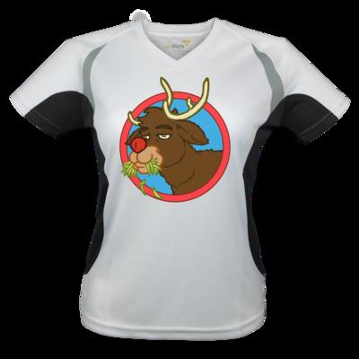 Motiv: Laufshirt Lady Running T - Rudolph
