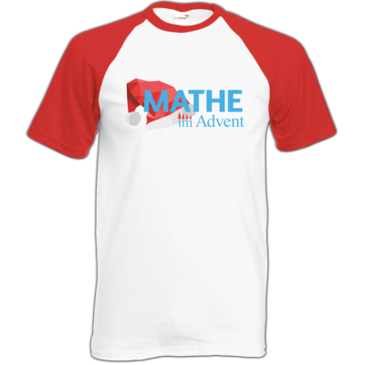 Motiv: Baseball-T FAIR WEAR - Mathe im Advent Logo
