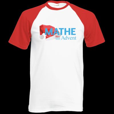Motiv: Baseball-T FAIR WEAR - Mathe im Advent Logo