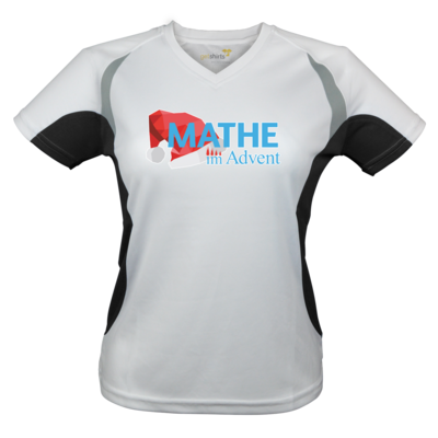 Motiv: Laufshirt Lady Running T - Mathe im Advent Logo