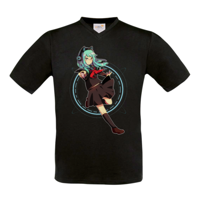 Motiv: T-Shirt V-Neck FAIR WEAR - Modus Yandere