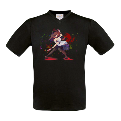 Motiv: T-Shirt V-Neck FAIR WEAR - Yandere Pan