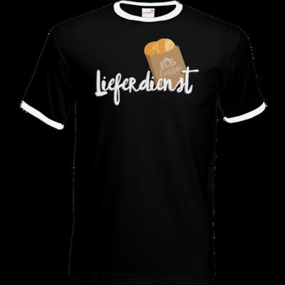 Motiv: T-Shirt Ringer - Lieferdienst