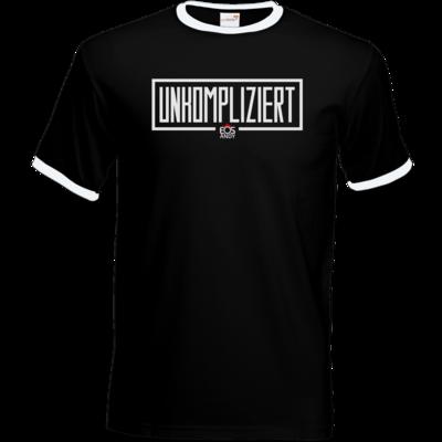 Motiv: T-Shirt Ringer - unkompliziert eosandy shirt