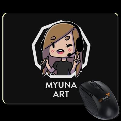 Motiv: Mousepad Textil - Myuna Art Logo